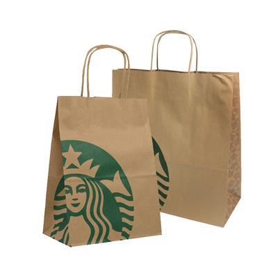 Wholesale Recycled Printed Kraft Paper Shopping Bags for Grocery