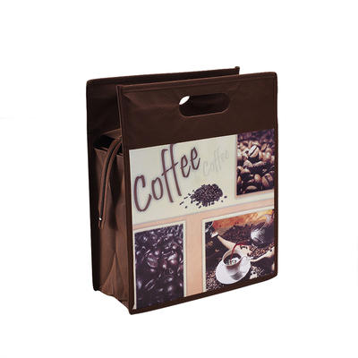 Custom Foldable Printing Non Woven Handle Bag with Zipper Manufacturers