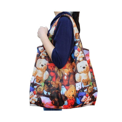 Custom Portable Foldable Polyester Shopping Bags Suppliers