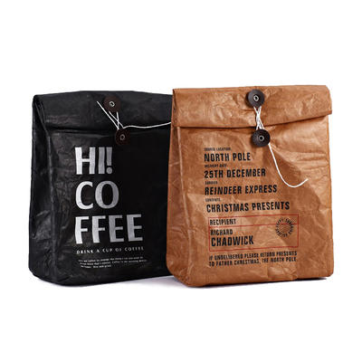 Custom Kraft Paper Bags Eco Friendly Packaging Bags Frozen Cooler